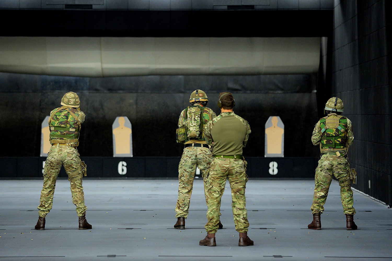 Royal marines practice urban warfare skills - Royal marines recruitment office ...