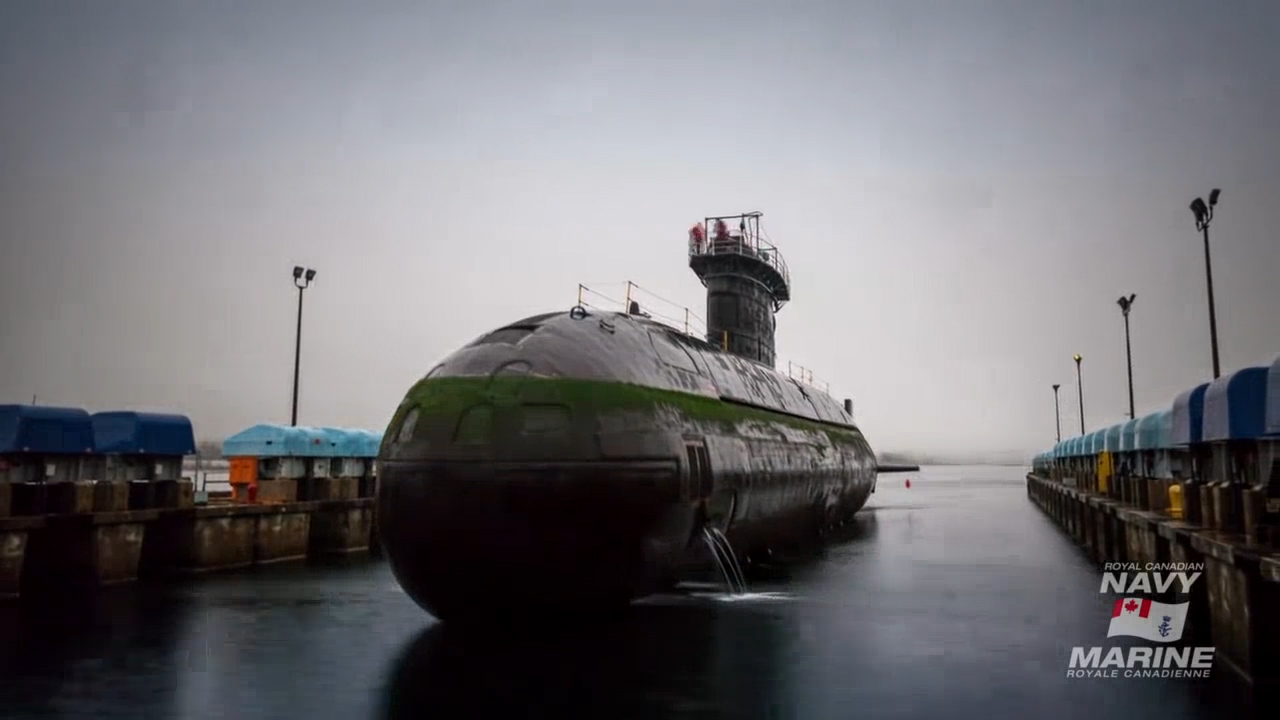 Watch: How To Park A Submarine