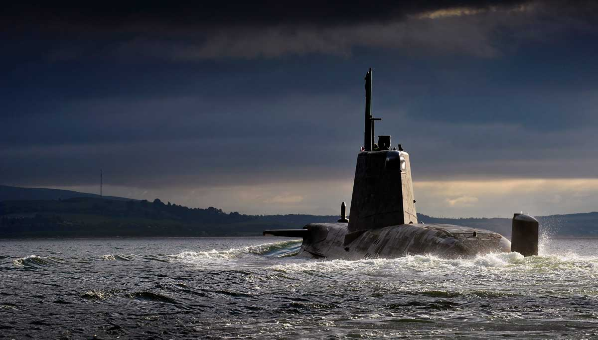 the navy and nuclear submarines Construction started in barrow, cumbria yesterday on the royal navy's largest ever submarine the nuclear sub will be over 150 metres long, weigh 17,500 tonnes, armed with trident missiles and have accommodation for 130 male and female crew.