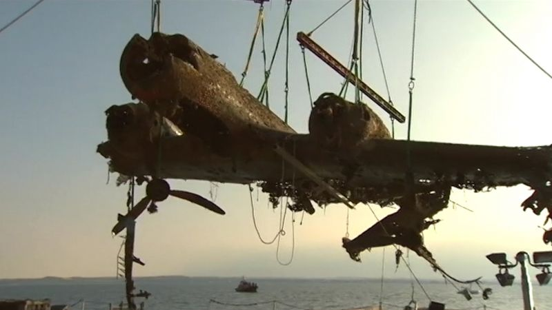 the only surviving German Second World War Dornier 17 bomber was recovered from Goodwin Sands in 2013 Credit BFBS