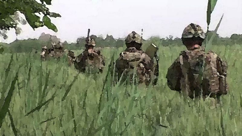 On patrol Afghanistan watercolour