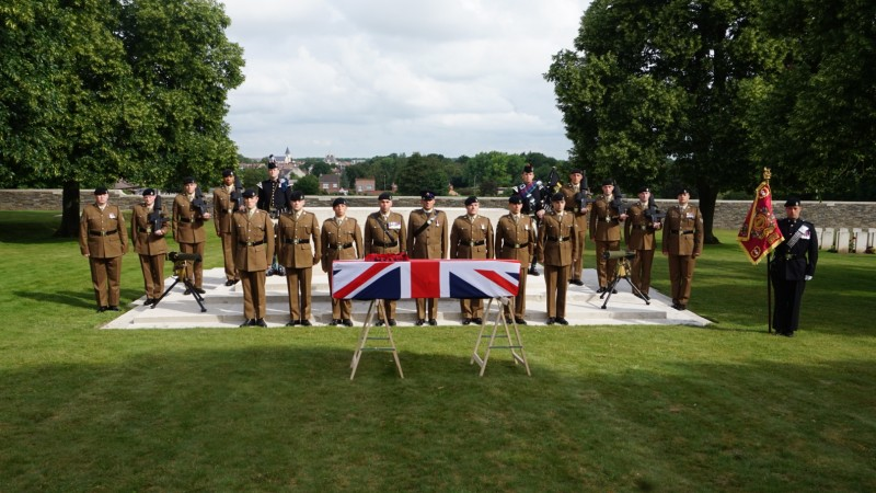 Royal Tank Regiment at unknown soldiers burial