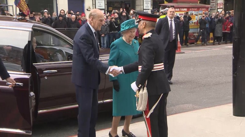 Queen & Duke of Edinburgh At Cyber