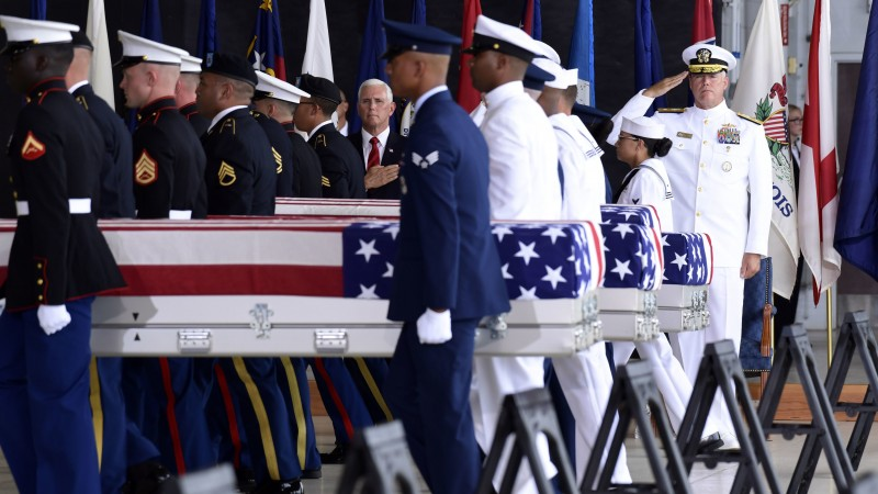 US Korean War Remains Mike Pence