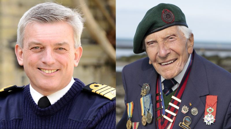 2020 Military Honours List LEFT Admiral Sir Philip Andrew Jones RIGHT DDay Veteran Harry Billinge Credit MOD and Normandy Memorial Trust 281219