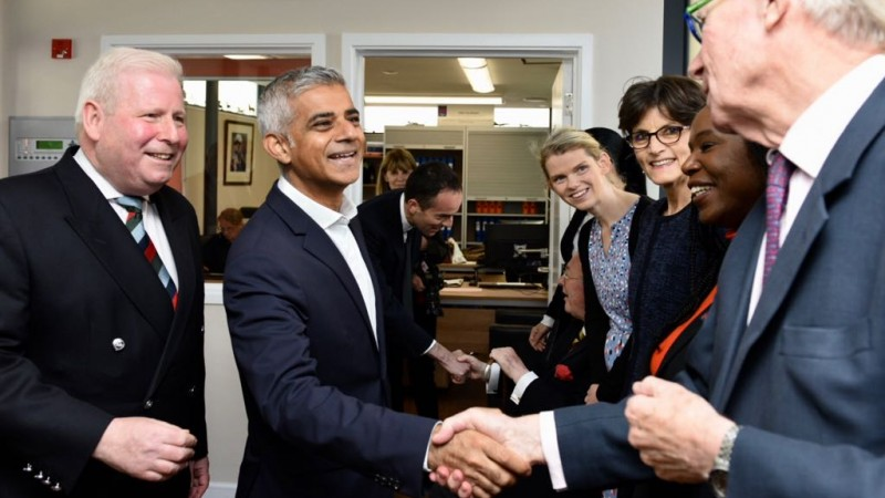Mayor of London Sadiq Khan opens New Belvedere House, Veterans Aid. Credit: Greater London Authority