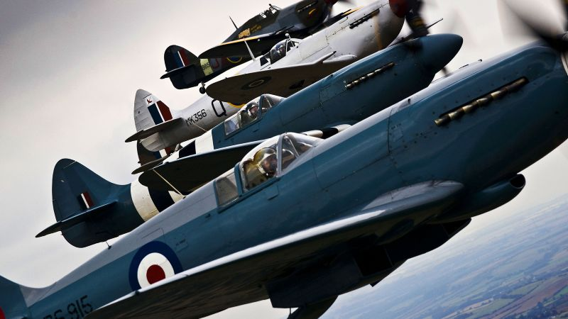 Cover image shows Spitfire and Hurricane aircraft from World War II during Lincolnshire Lancaster Association Day at RAF Coningsby. Credit: SAC Sally Raimondo, Crown Copyright