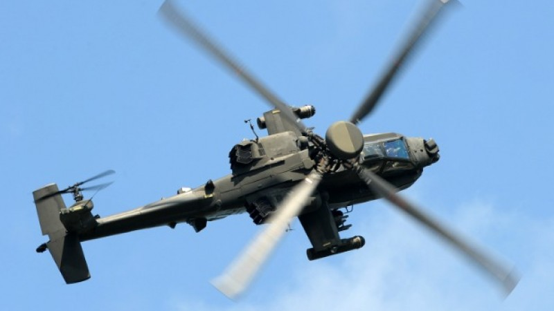 Attack helicopters perform some amazing manoeuvres