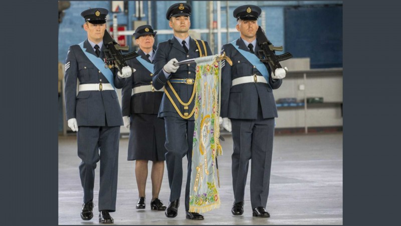 617 Squadron presented with a new Standard during a Consecration Parade Picture RAF 2