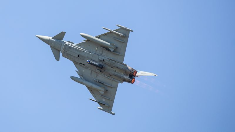 A Royal Air Force Typhoon of No. 6 Squadron operates over Kazla Ruda training ranges during Ex FURIOUS WOLF 050820 CREDIT MOD.jpg