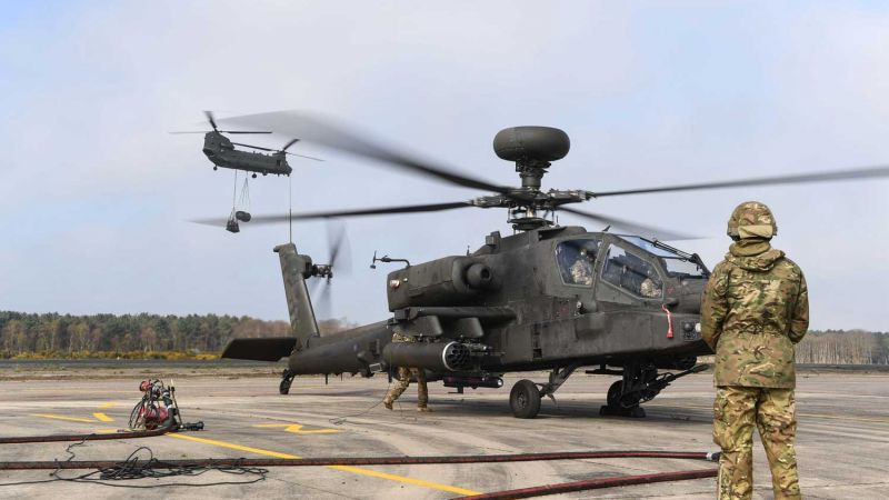 Chinook crews Pick up underslung loads at Woodbridge Airfield and refuel on Exercise Joint Warrior