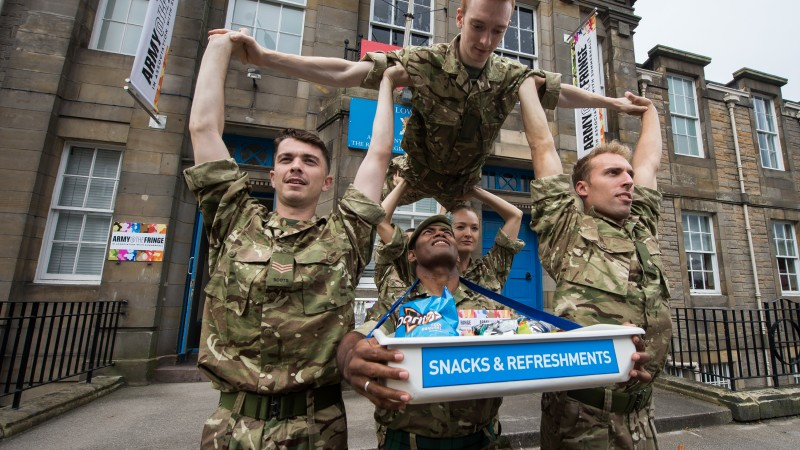 Army The Fringe Edinburgh Scotland Dance