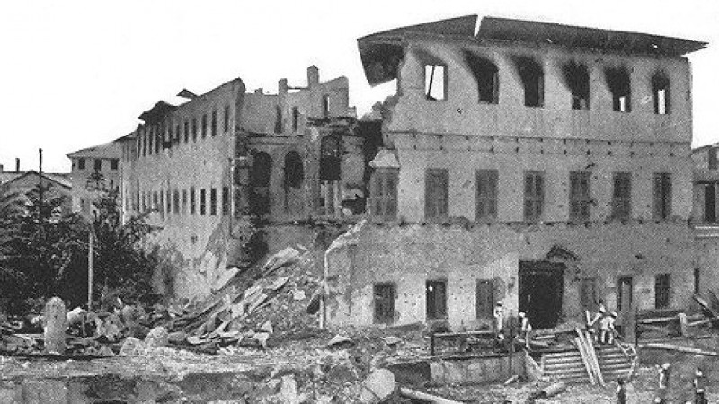 Anglo-Zanzibar War destroyed palace