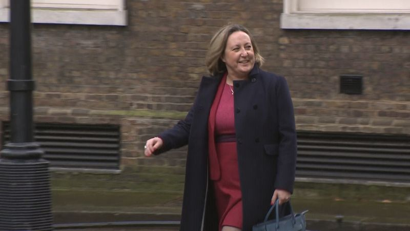 Anne Marie Trevelyan going into no 10 on cabinet reshuffle day 130220 credit bfbs.jpg