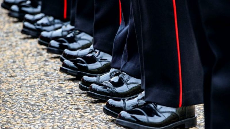 Anonymous Army Grenadier Guards feet