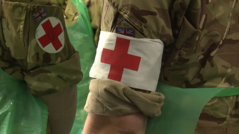 Anonymous Army medic uniform sleeves