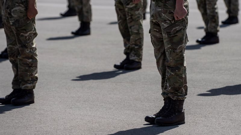 Anonymous Army recruits during passing out parade at Pirbright 280520 CREDIT BRITISH ARMY