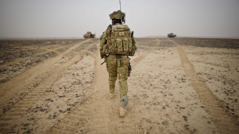 Anonymous British Army soldier in Afghanistan 170312 CREDIT PA