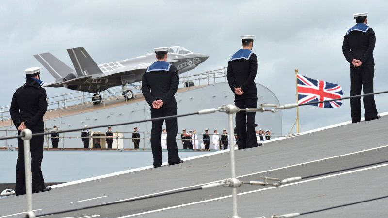 Anonymous sailors onboard HMS Queen Elizabeth during naming ceremony 040714 CREDIT MOD