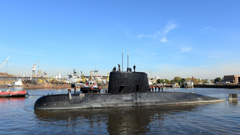 Missing sub was in good condition: navy