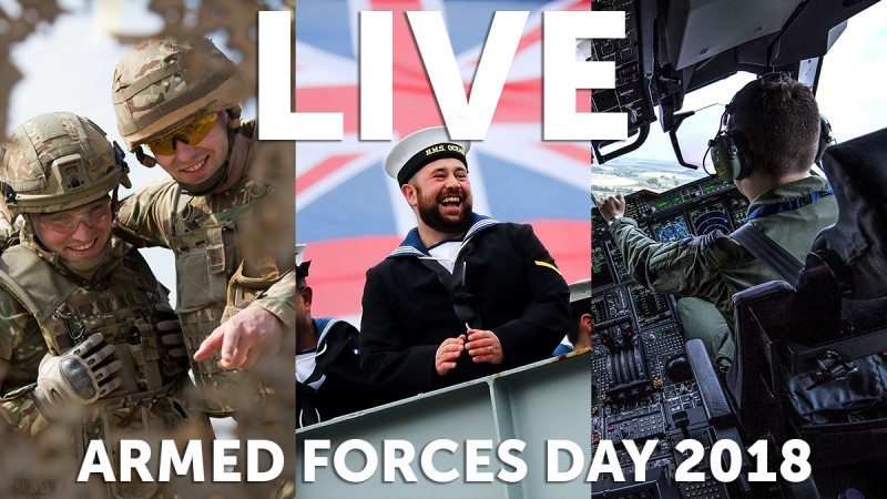 Armed Forces Day Live 2018 Llandudno Wales Tri-Service British Army Royal Navy Royal Air Force Forces Radio BFBS Forces TV
