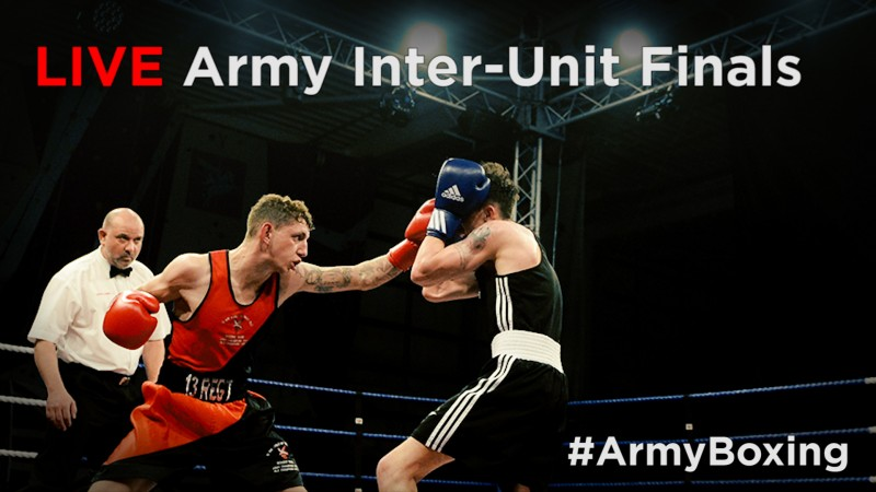 British Army InterUnit Boxing finals