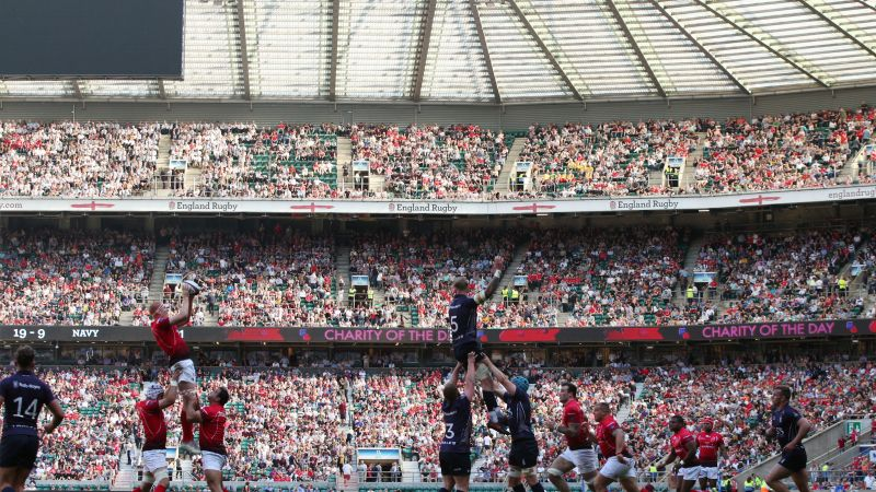 Army Navy rugby union match at Twickenham