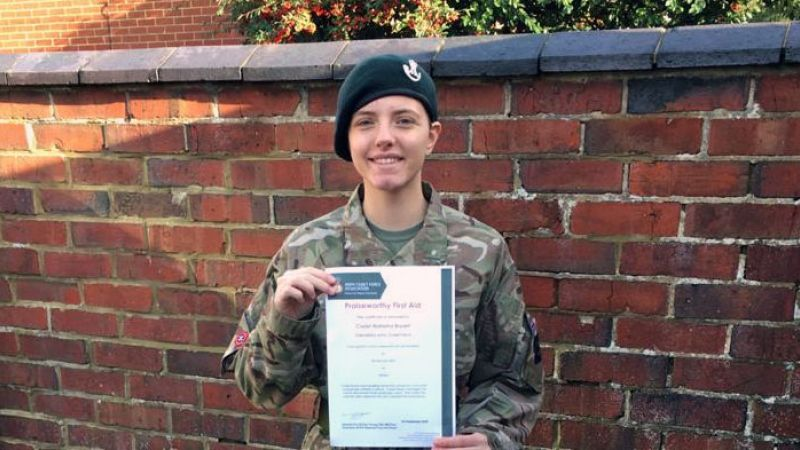 Army Cadet Lance Corporal Natasha Bryant of Nivelle Company BFBS Radio Cadet Of The Week