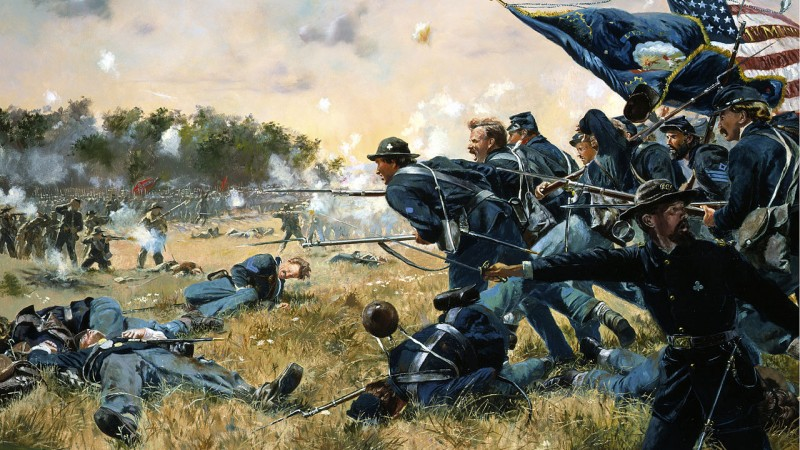 Attack of the 1st Minnesota at Gettysburg from national guard