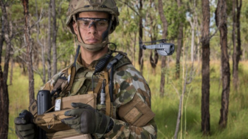 Australian Department of Defense using the new FLIR Black Hornet 3 (Picture: Australian Department of Defense).