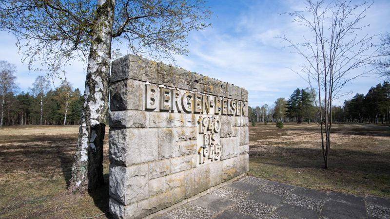 Bergen-Belsen memorial 75 years after liberation 150420 CREDIT PA