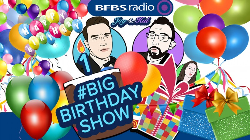 Big Friday Show Big Birthday Show Jay James Hal Stewart Laura Skitt Forces Radio BFBS
