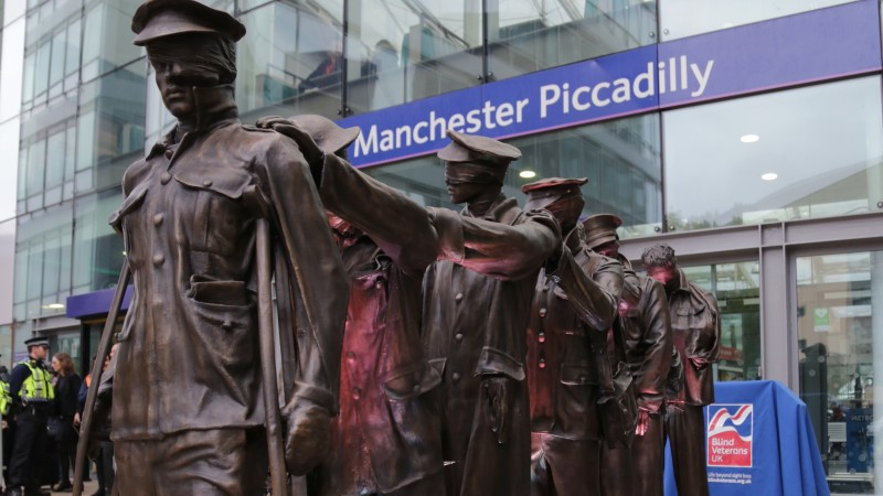 Blinded soldiers statue unveiled