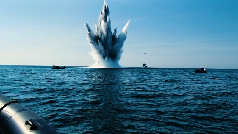 NATO Op Open Spirit minesweeping the Baltic Sea