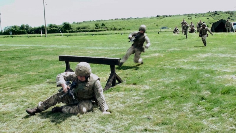 British Army shooting competition on Salisbury Plain