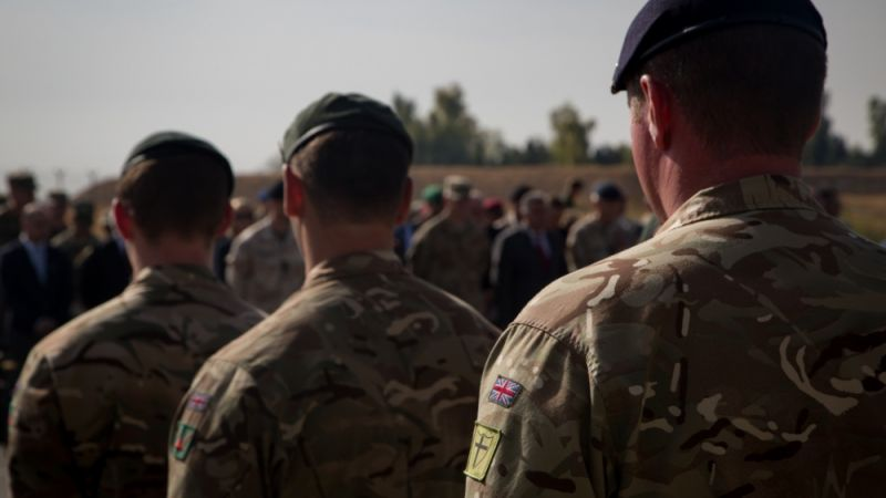 British soldiers in Erbil, Iraq