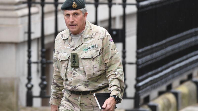 Chief of the Defence Staff General Sir Nick Carter arrives in Downing Street, London, ahead of coronavirus meeting 120320 CREDIT PA