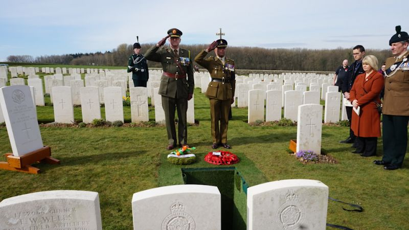Four Unidentified Soldiers Buried 100 Years After Their Deaths