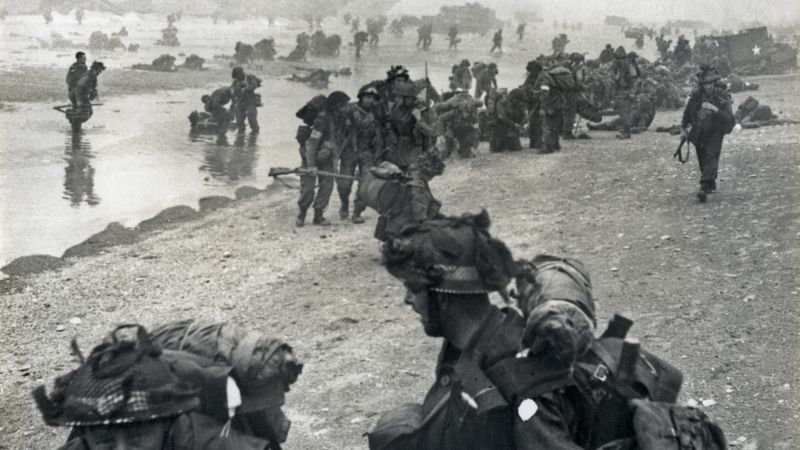 British troops landing in Normandy