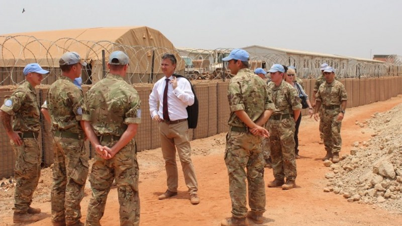 Mark Lancaster in South Sudan