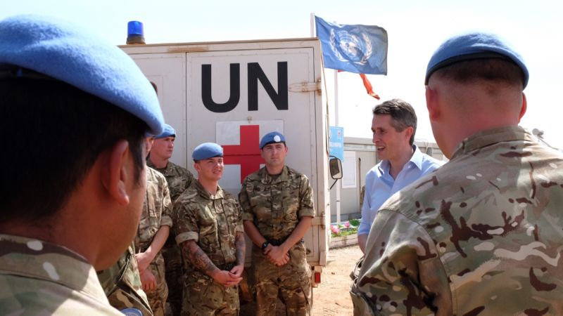 Defence Secretary Gavin Williamson South Sudan MOD