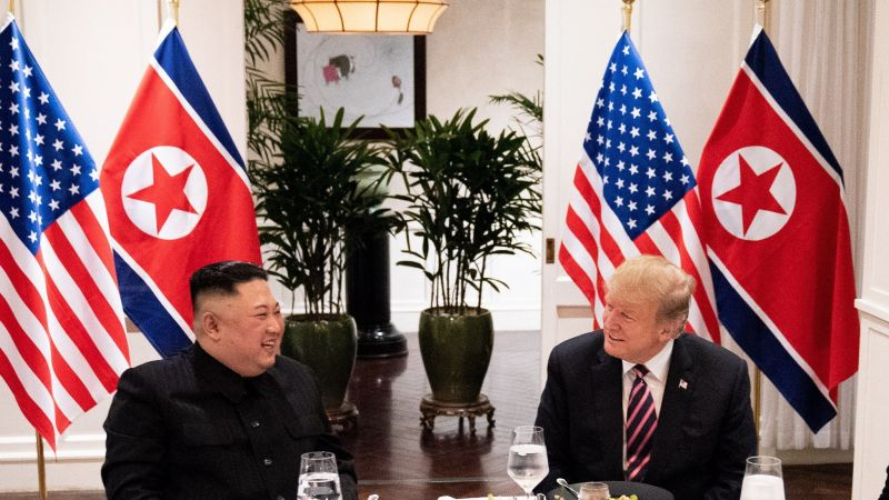 Trump and Kim at Vietnam summit