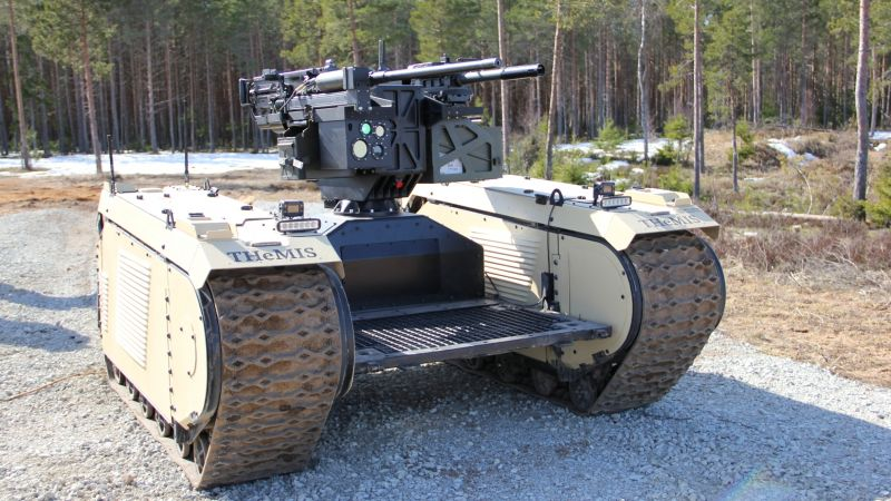 During EW Live Milrem Robotics deployed their THeMIS UGV equipped with ST Engineering's ADDER DM remote weapon station 160419 CREDIT Business Wire.jpg