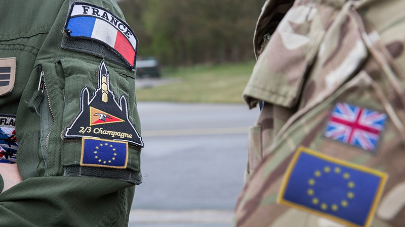 European Army - EU Army - TRF Flashes are NOT ISSUE OR IN USE