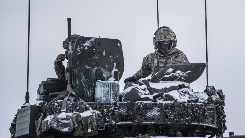 UK soldiers in Estonia for Exercise Winter Camp