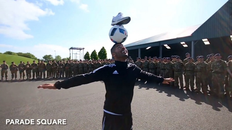 Freestyle Football Stars Take On British Army