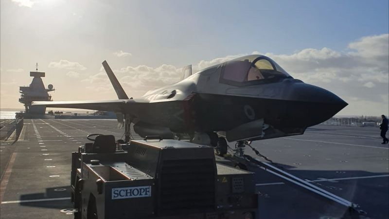 Why Is An F-35 Sitting On The Deck Of HMS Queen Elizabeth?