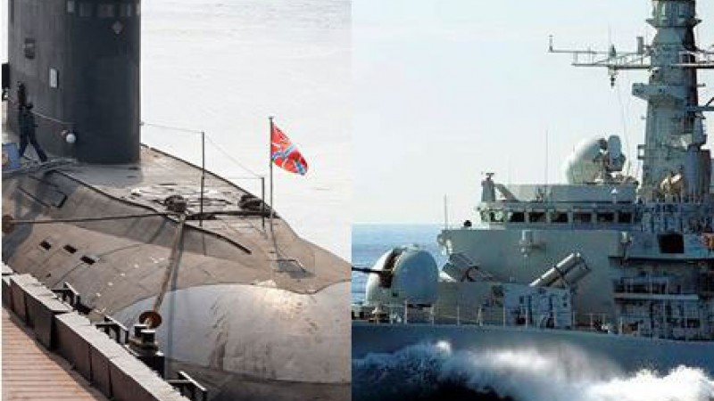 The Two Craft In Latest Royal Navy/Russian Stand Off