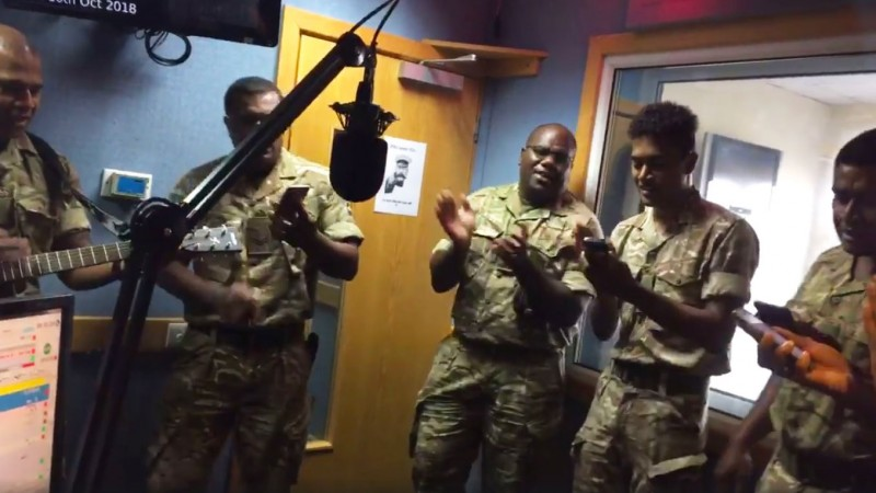 Fiji Day 2018 2nd Battalion The Royal Anglian Regiment (The Poachers) Forces Radio BFBS Cyprus Facebook Live Screen Grab