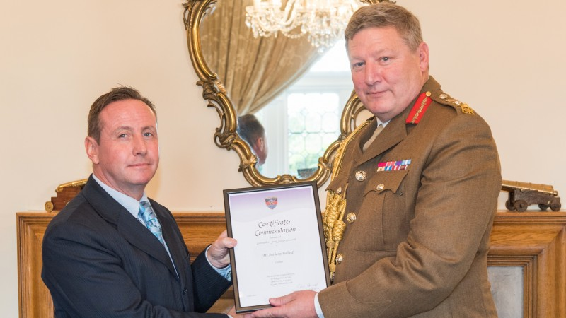 Anthony Ballard General Sir Chris Deverell Commander Joint Forces Command Admiralty House Northwood Crown Copyright